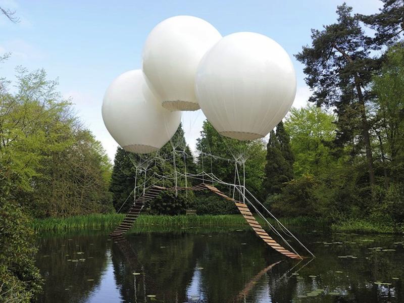 Three Giant Balloons 1 Подвесной мост на трех воздушных шарах