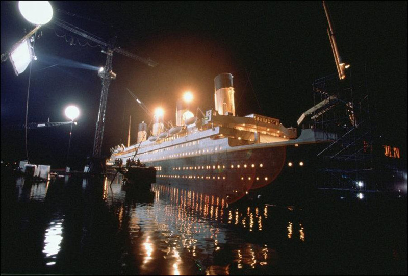 It took the Titanic: rare photos from the shoot