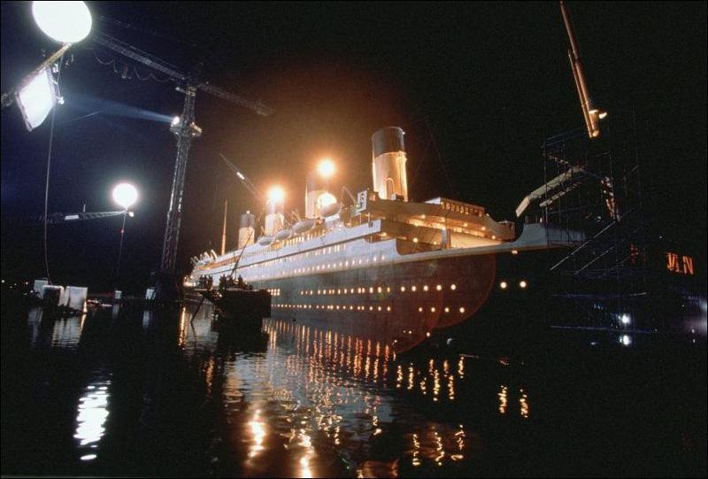 Titanik 12 Как снимали Титаник: редкие фото со съёмок