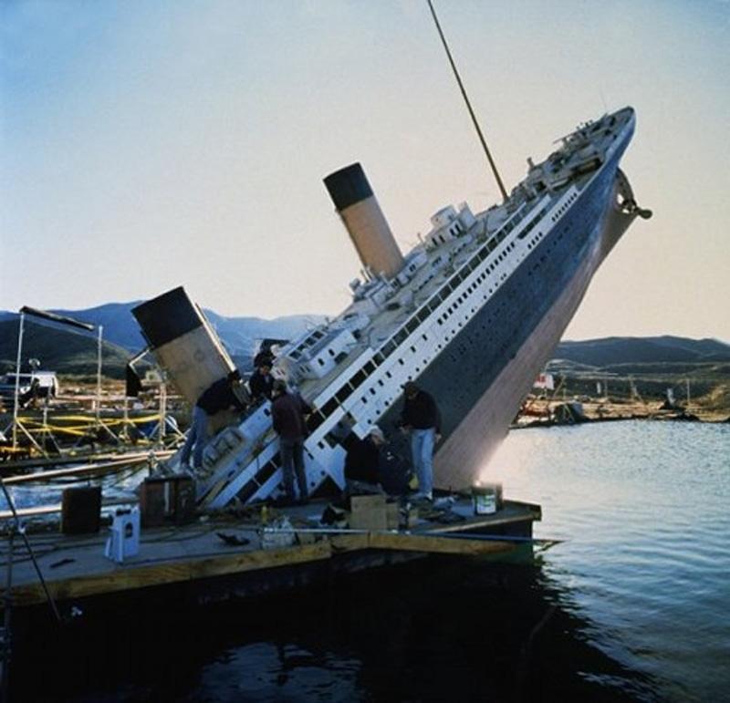 Titanik 26 Как снимали Титаник: редкие фото со съёмок
