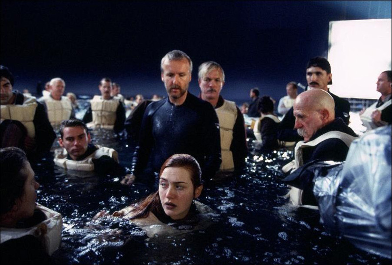 Titanik 41 Как снимали Титаник: редкие фото со съёмок