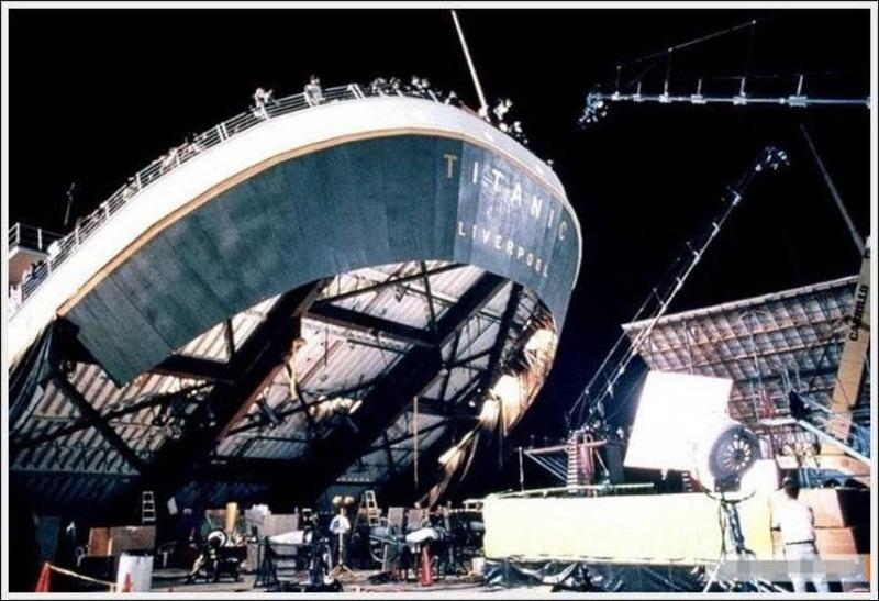 Titanik 8 Как снимали Титаник: редкие фото со съёмок
