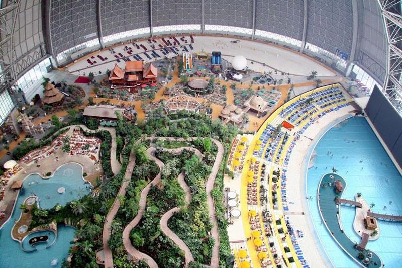 Tropical Island Resort 1 В Германии открыт крупнейший в мире крытый тропический курорт