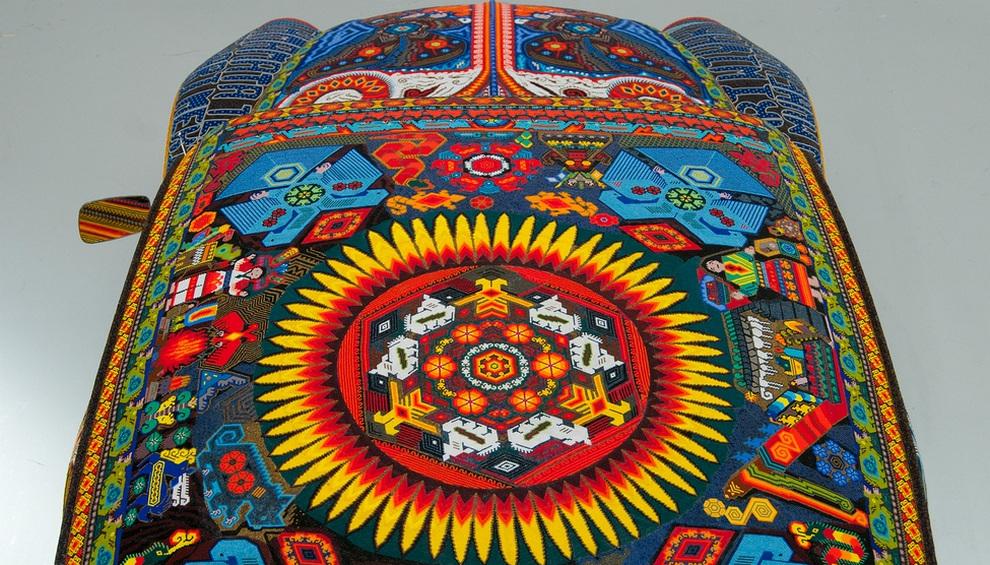 beads05 Единственный в своем роде автомобиль, покрытый бисером