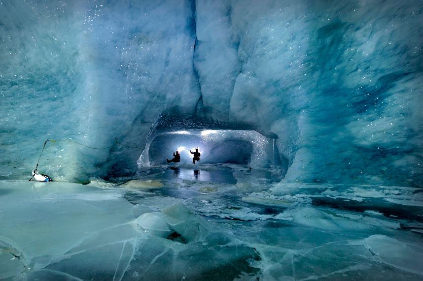 gorner 1 Ледяные пещеры ледника Горнер
