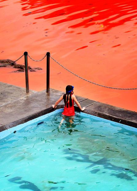 krovavoaliokean 5 Вода напляжах Австралии окрасилась кроваво красным, напугав отдыхающих