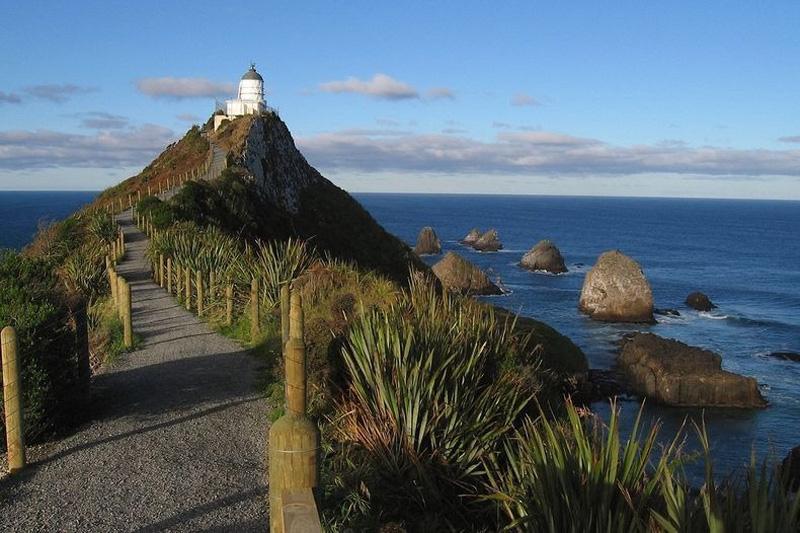 nuggestpoint 3 Маяк Наггет Пойнт в Новой Зеландии