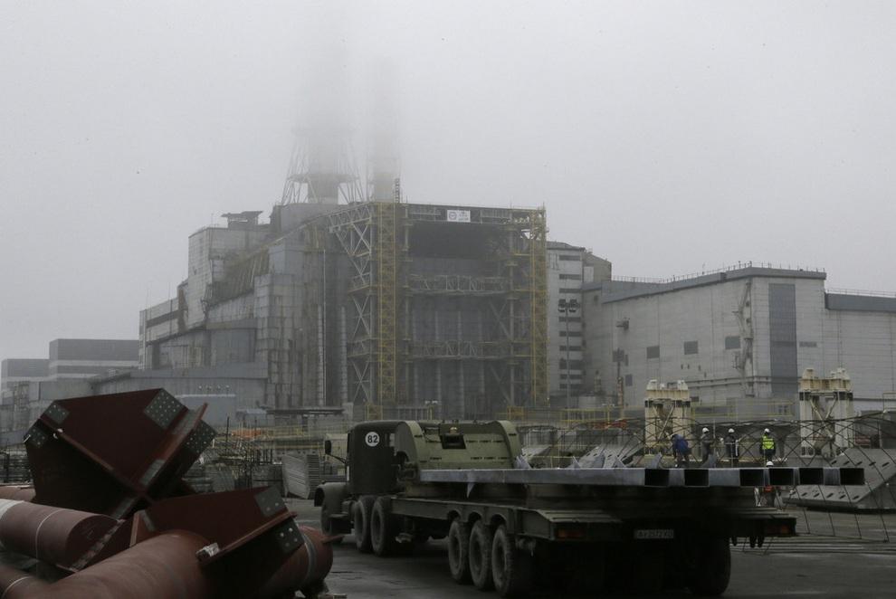 stroitelstvovchernobile 2 Строительство нового саркофага в Чернобыле