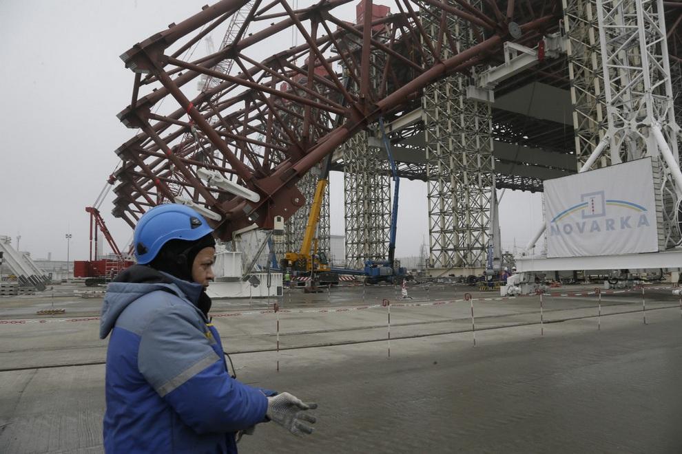stroitelstvovchernobile 3 Строительство нового саркофага в Чернобыле