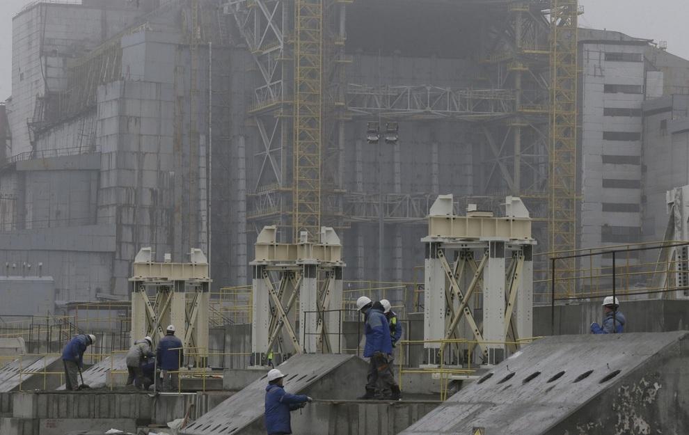 stroitelstvovchernobile 4 Строительство нового саркофага в Чернобыле