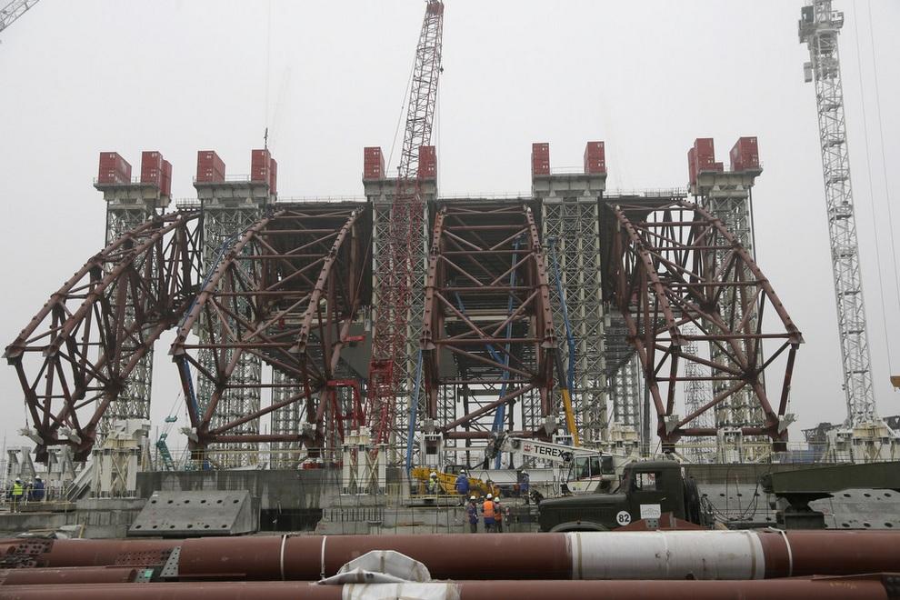 stroitelstvovchernobile 5 Строительство нового саркофага в Чернобыле