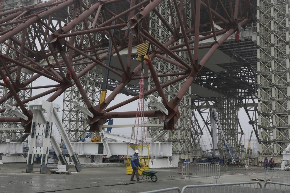 stroitelstvovchernobile 6 Строительство нового саркофага в Чернобыле