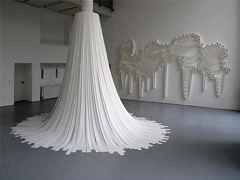 Как сделать инсталляцию из бумаги