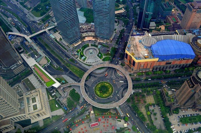 3 Круглый пешеходный мост в Шанхае
