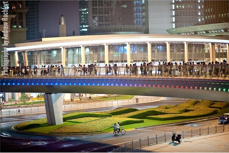 4 Круглый пешеходный мост в Шанхае