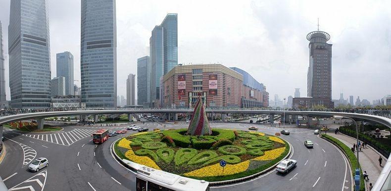5 Круглый пешеходный мост в Шанхае
