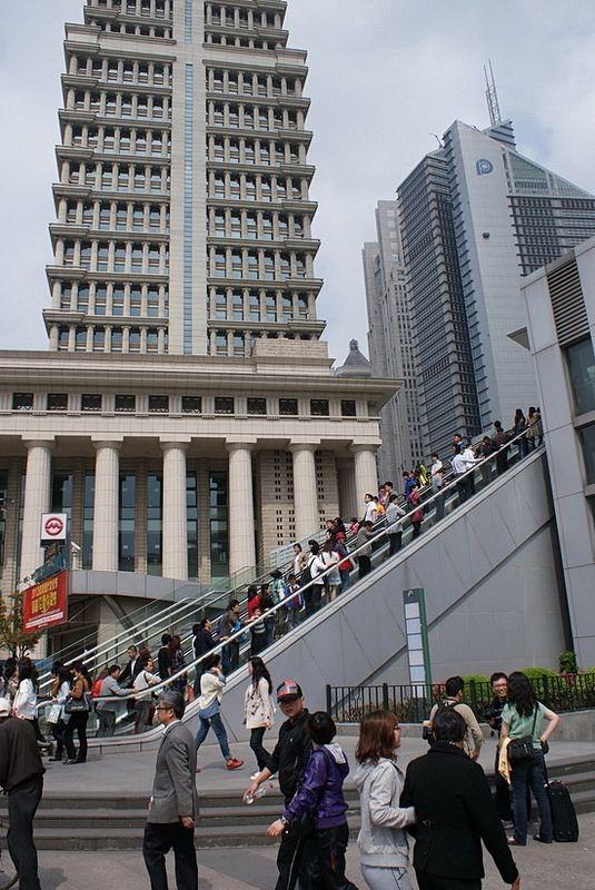 6 Круглый пешеходный мост в Шанхае