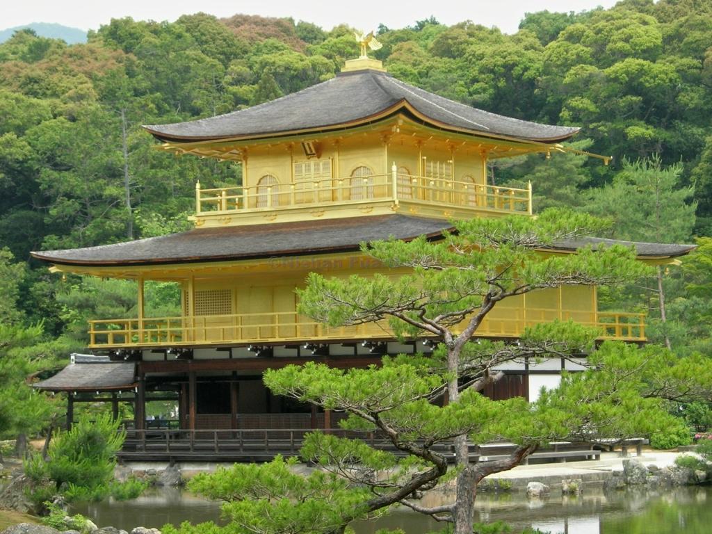 92 Золотой Павильон Кинкаку дзи