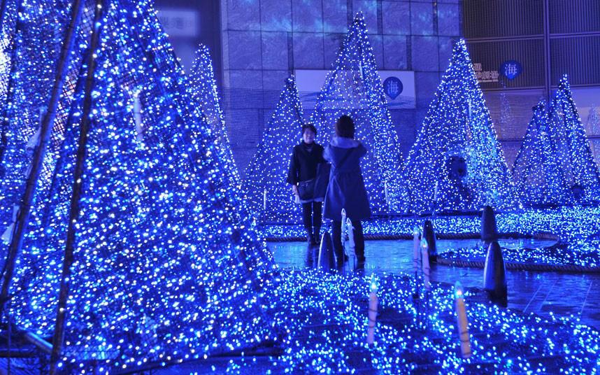 Christmas trees and lights 1 Ёлки и праздничные огни по всему миру