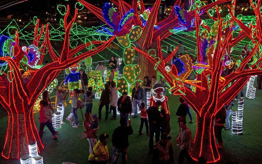 Christmas trees and lights 10 Ёлки и праздничные огни по всему миру