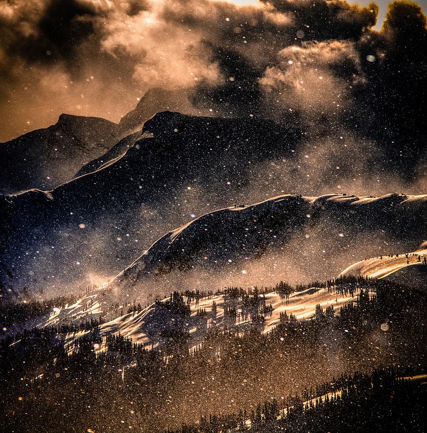 Великолепные снежные пейзажи
