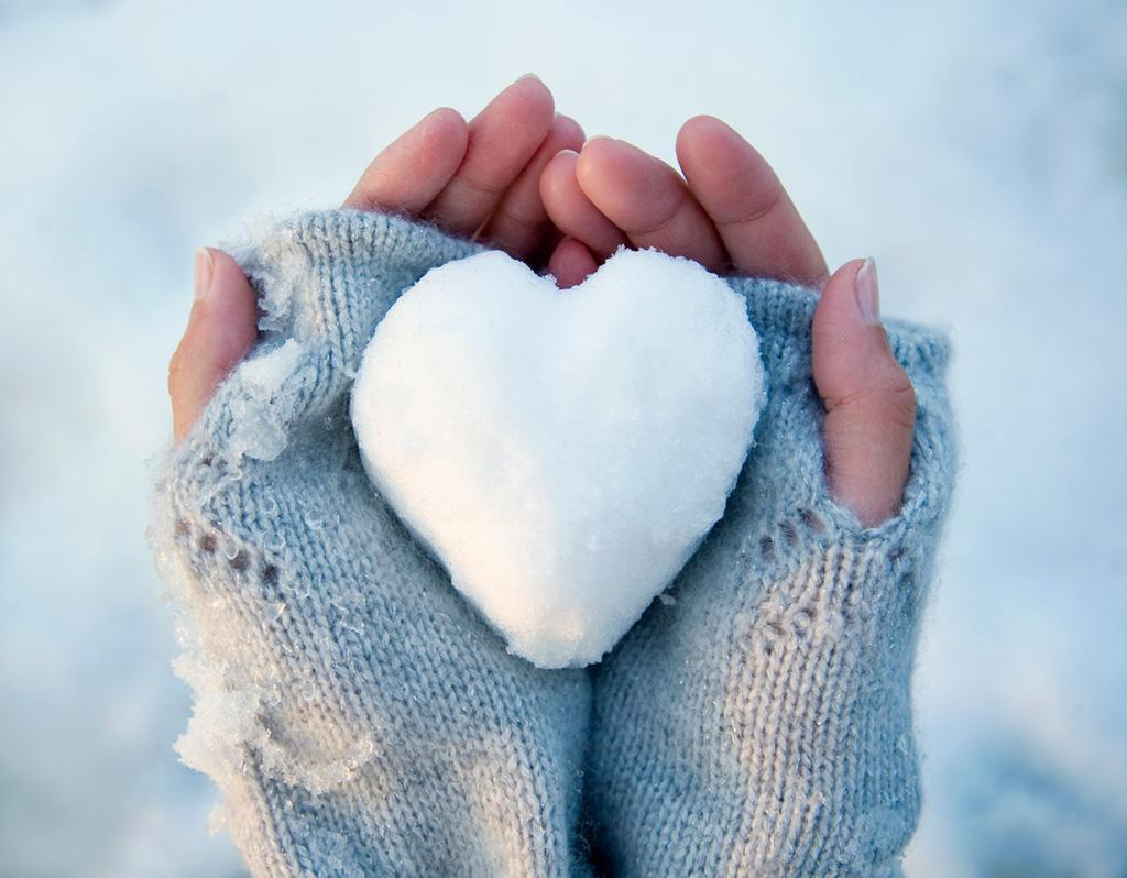 Снег варежки сердце картинки