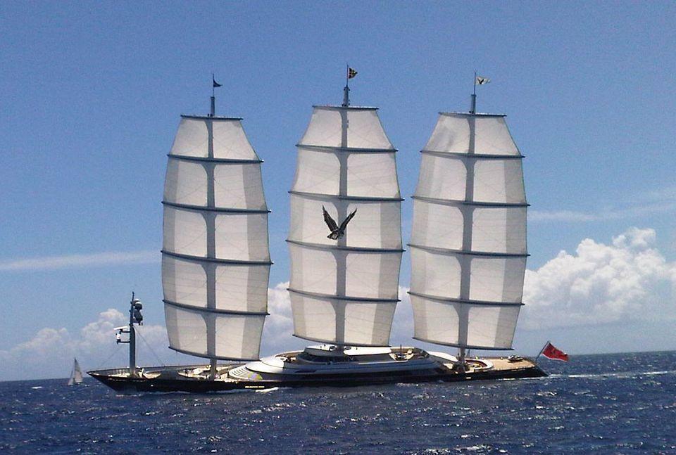 MalteseFalcon02 Мальтийский сокол: Одна из самых больших парусных яхт