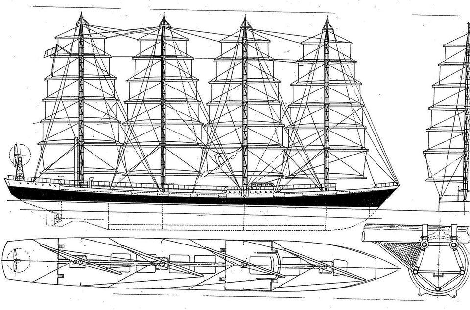 MalteseFalcon10 Мальтийский сокол: Одна из самых больших парусных яхт