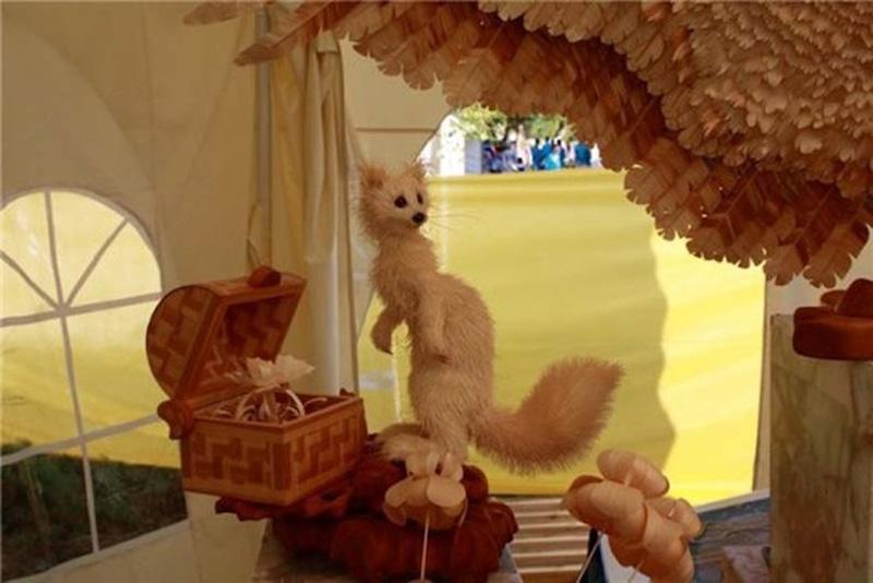 Realistic Siberian Wildlife 13 Скульптуры животных из стружки кедрового дерева