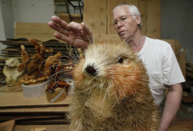 Realistic Siberian Wildlife 15 Скульптуры животных из стружки кедрового дерева