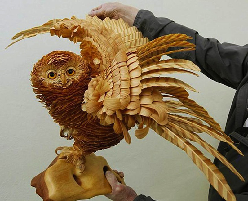 Realistic Siberian Wildlife 2 Скульптуры животных из стружки кедрового дерева