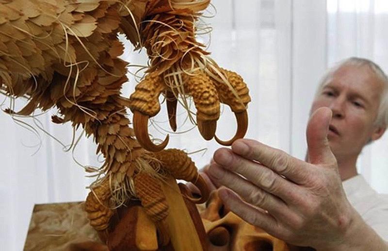 Realistic Siberian Wildlife 3 Скульптуры животных из стружки кедрового дерева
