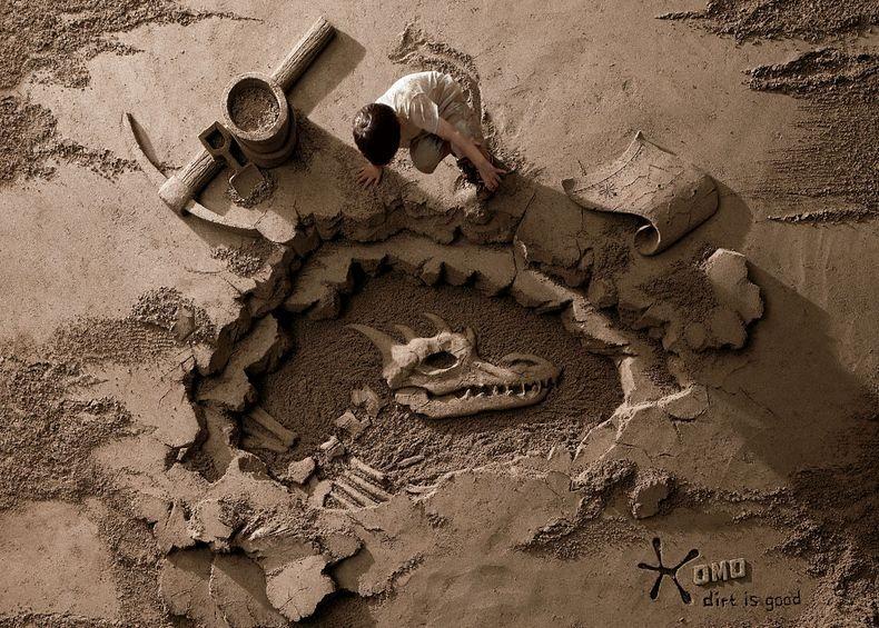 Sandbackdrops2 Удивительные декорации из песка и грязи