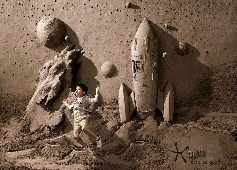 Sandbackdrops3 Удивительные декорации из песка и грязи