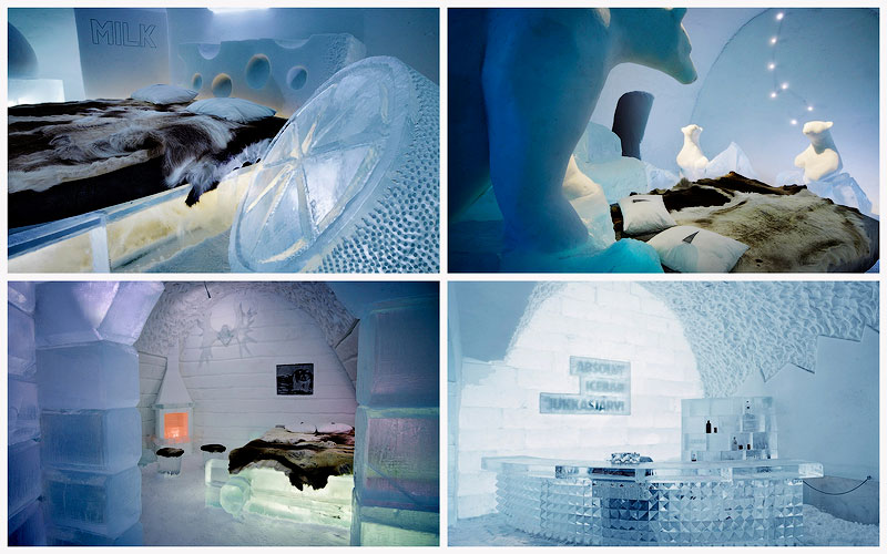 TEMP105 Гостиница изо льда и снега в Швеции
