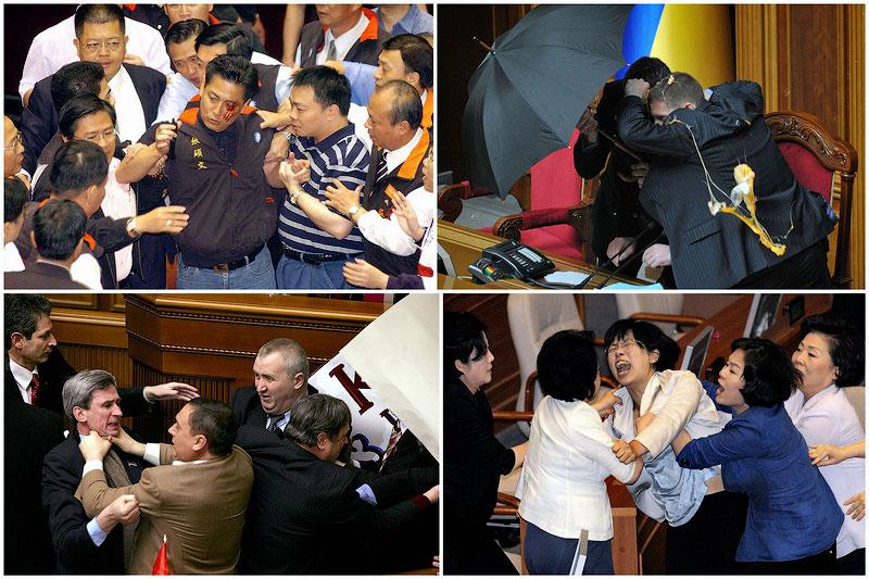 TEMP41 Драки в парламентах разных стран мира