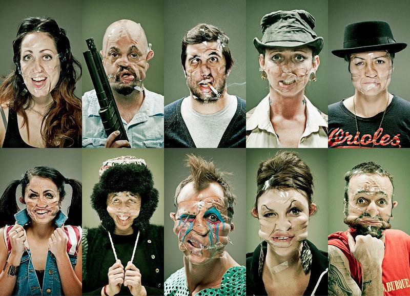 Смешные лица в фотопроекте «Скотч»