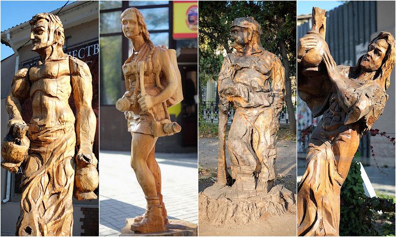 Деревянные скульптуры в Симферополе