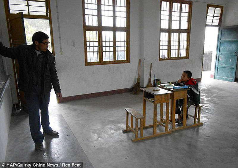 The school with just one pupil 2 Нонсенс для Китая   в школе учится всего один ребенок