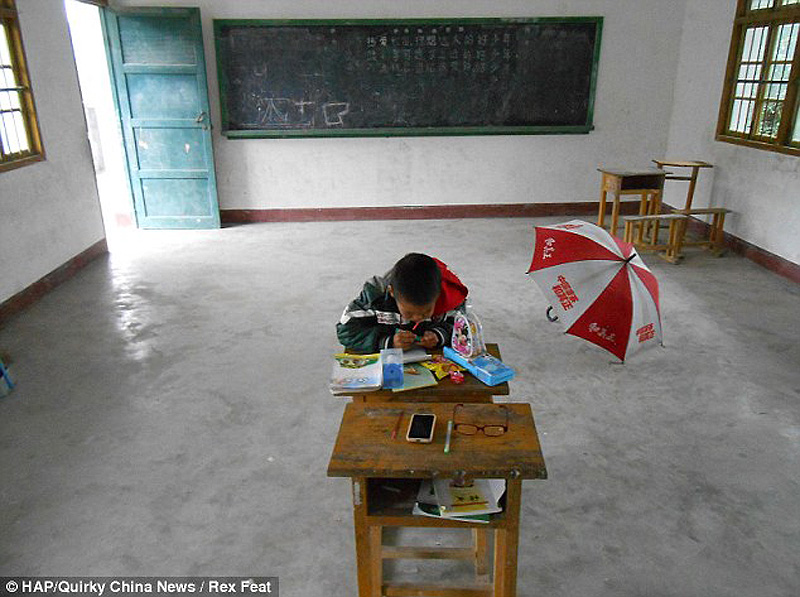 The school with just one pupil 5 Нонсенс для Китая   в школе учится всего один ребенок