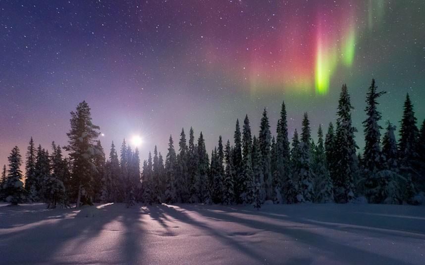 aurora01 Северное сияние в Швеции и Норвегии