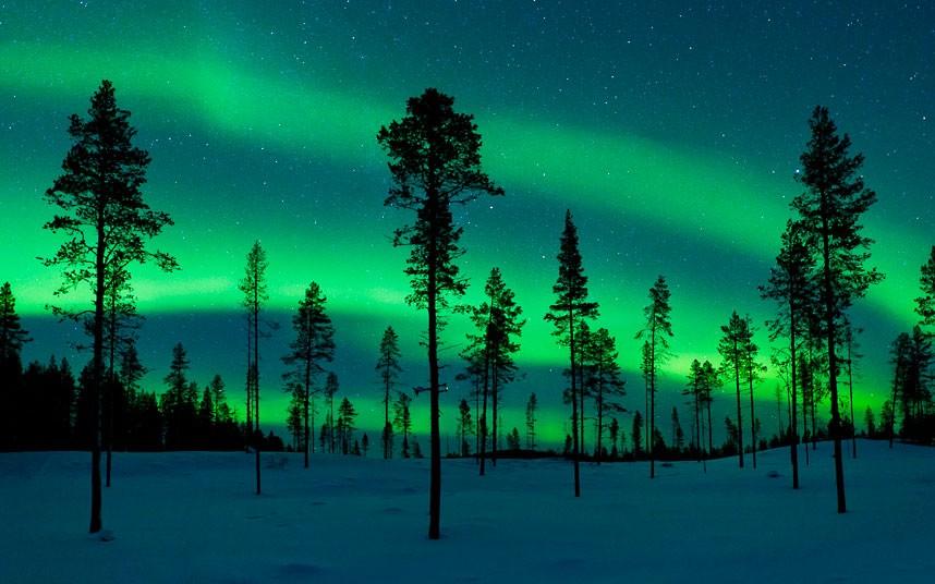 aurora03 Северное сияние в Швеции и Норвегии