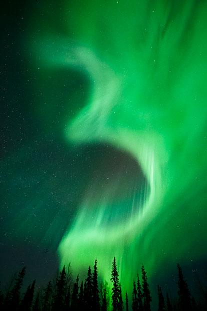 aurora06 Северное сияние в Швеции и Норвегии