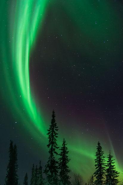 aurora13 Северное сияние в Швеции и Норвегии
