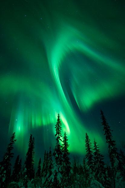 aurora15 Северное сияние в Швеции и Норвегии