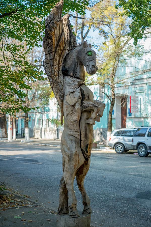 Есть в Симферополе мастер, которые из стволов деревьев делает.  За последние лет 5-6 их уже накопилось несколько...
