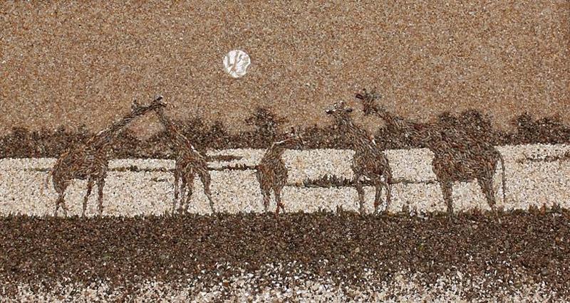 mozaikaizpeska 10 Мозаика из песка и ракушек от Светланы Иванченко