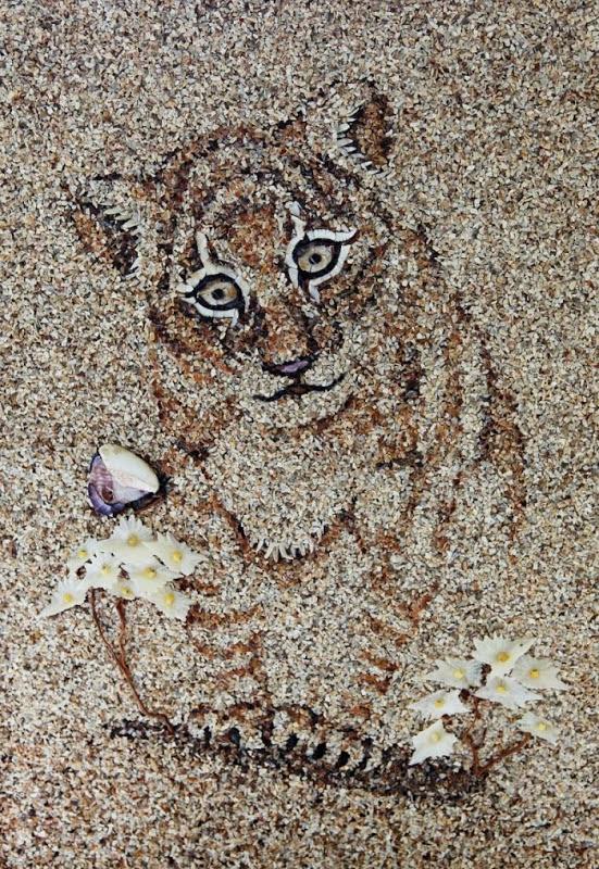 mozaikaizpeska 13 Мозаика из песка и ракушек от Светланы Иванченко