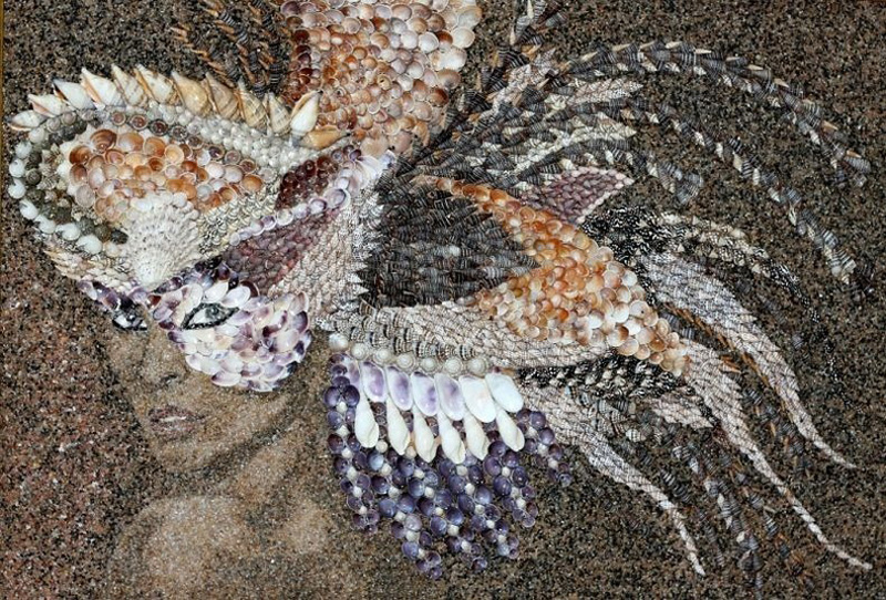 mozaikaizpeska 3 Мозаика из песка и ракушек от Светланы Иванченко