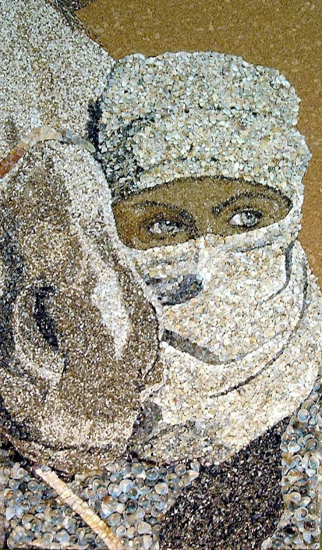 mozaikaizpeska 4 Мозаика из песка и ракушек от Светланы Иванченко